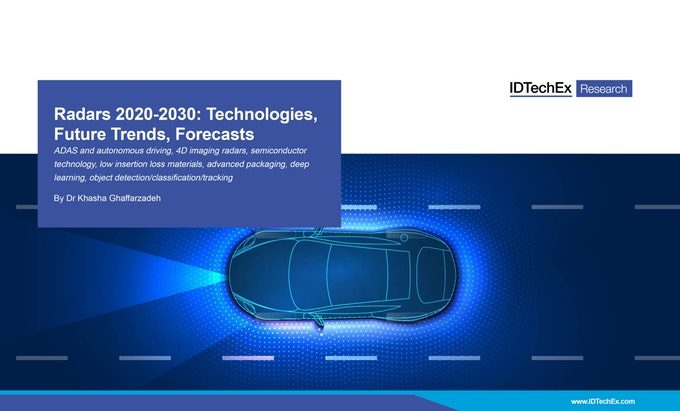 IDTechEx Report: Radars 2020-2030: Technologies, Future Trends, Forecasts