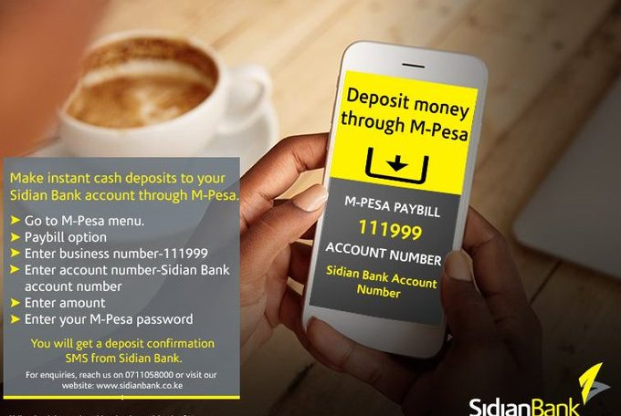 How to deposit money to Sidian Bank account via MPesa