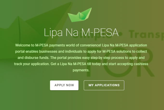 How to apply for Lipa na Mpesa Till Number Online