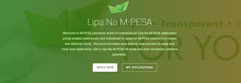how to apply for lipa na Mpesa toll number online