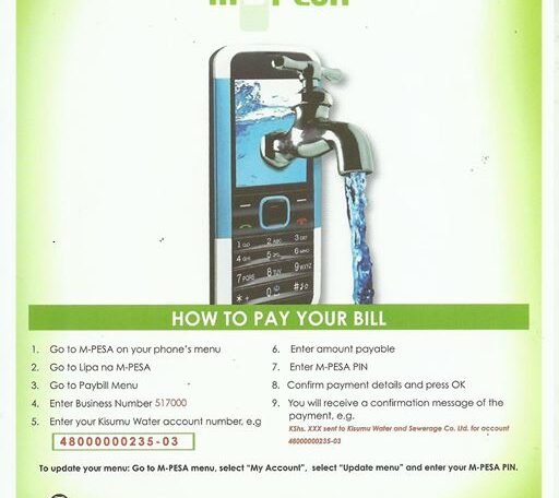 How to pay for Water Bill via MPesa
