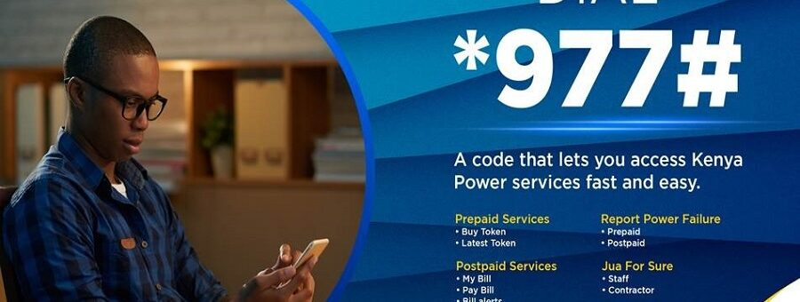 How to access Kenya Power services using *977# USSD