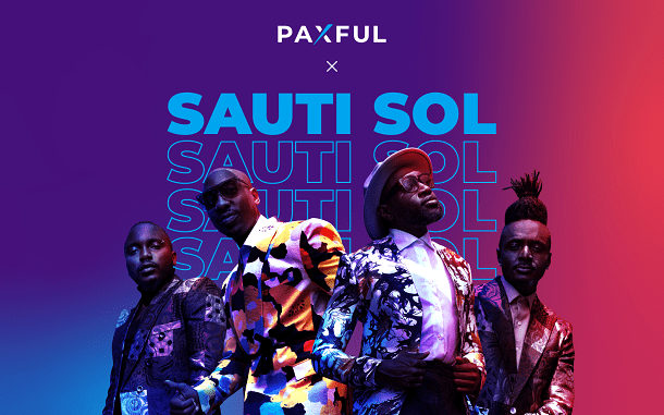 Paxful partners with Sauti Sol to grow crypto reach