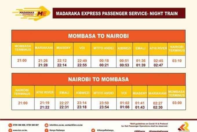 Kenya Railways Introduces SGR Night Train Service