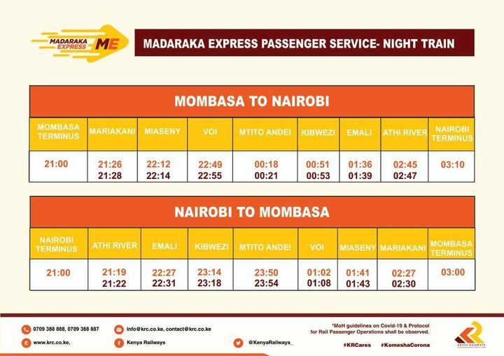 Kenya Railways Introduces Night Train Service