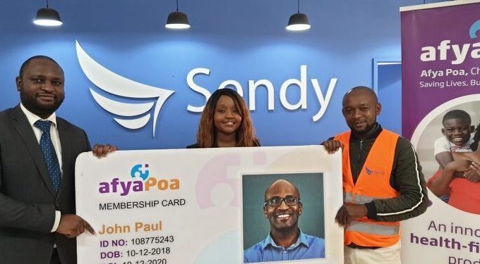 Sendy partners with Afyapoa to provide health insurance for its drivers