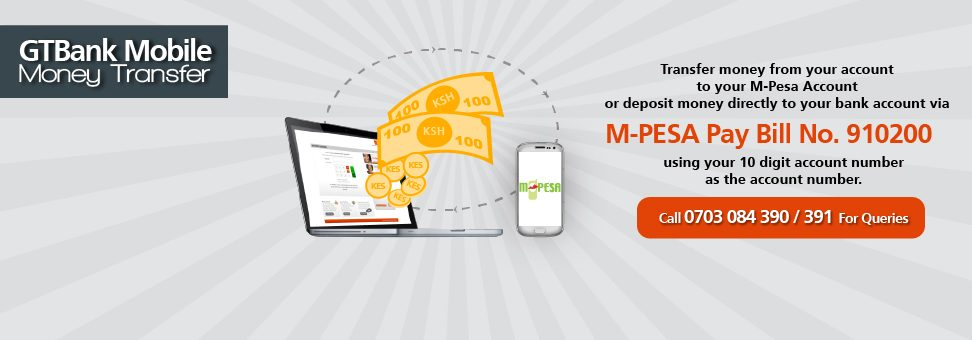 How to deposit money to GTBank account via MPESA