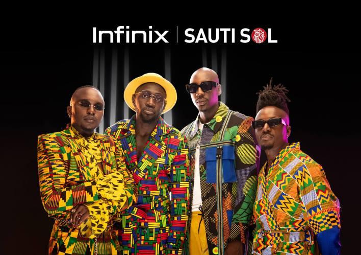 Infinix unveils Sauti Sol as its Brand Ambassadors