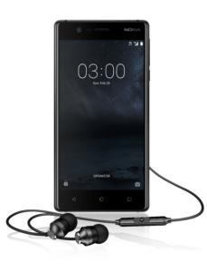 Nokia 3 with Nokia Stereo Headset
