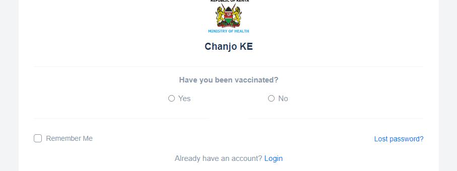How to register for Covid vaccine in Kenya - Chanjo