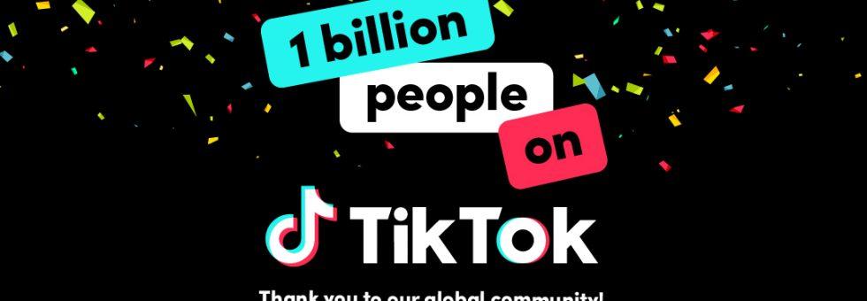 TikTok hits one billion monthly active users